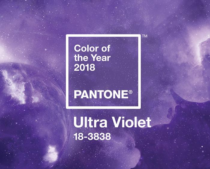 Ultra Violet, color de l'any 2018